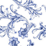 Vector watercolor blue texture pattern. Stock Images