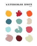 Vector watercolor brush stroke elements Royalty Free Stock Images