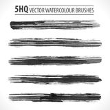 Vector Watercolor Brushes. Set of watercolor brushes. Grunge brushes. Design elements. Vector brushes. Hand drawn. Grunge banners. Abstract shape. Retro Stock Photo