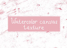 Vector watercolor canvas texture. Vector hand-drawn watercolor modern texture. It is possible to use as a background Royalty Free Stock Images