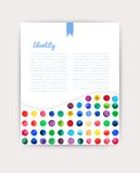 Vector watercolor circles. Corporate identity vector blank, background, illustration with plenty space for your text. Watercolor b Stock Photos