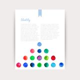 Vector watercolor circles. Corporate identity vector blank, background, illustration with plenty space for your text. Watercolor b Royalty Free Stock Photos