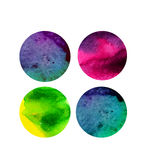 Vector watercolor circles, round shapes. Watercolor rounds backg Royalty Free Stock Photography