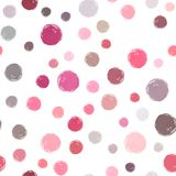 Vector watercolor circles seamless pattern. Purple, pink, gray watercolor colors. It can be used as wallpaper, desktop, printing, wrapping, fabric or vector illustration