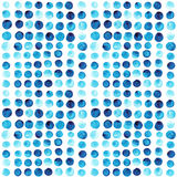 Vector watercolor circles seamless pattern (tiled). Retro hand d Royalty Free Stock Photos