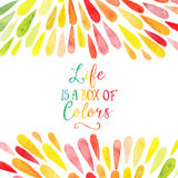 Vector watercolor colorful abstract background. Collection of pa Stock Photography
