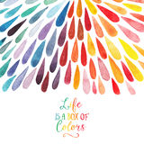 Vector watercolor colorful abstract background. Collection of pa Stock Image