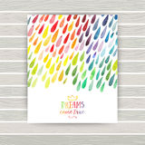 Vector watercolor colorful abstract background. Collection of pa Stock Photo