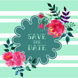 Vector watercolor colorful  floral  with summer Royalty Free Stock Photography