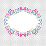 Vector watercolor colorful  floral wreaths Royalty Free Stock Images