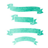 Vector watercolor colorful ribbons banners. On a white background Royalty Free Stock Photography
