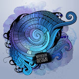 Vector watercolor decorative spiral design Stock Photography