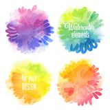 Vector Watercolor design elements. Royalty Free Stock Images