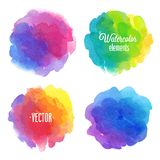 Vector Watercolor design elements. Stock Photos