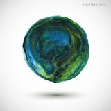 Vector Watercolor Earth Stock Images