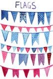 Vector Watercolor Flags Stock Photos