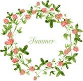 Vector watercolor floral frame Stock Photos