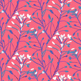 Vector watercolor floral pattern Stock Images