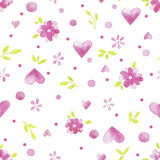 Vector watercolor floral seamless pattern Stock Photos