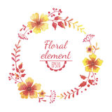 Vector watercolor floral wreath. Stock Photography