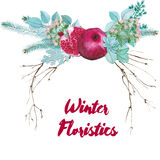 Vector Watercolor Floristic Composition Stock Images