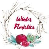 Vector Watercolor Floristic Composition Stock Photos