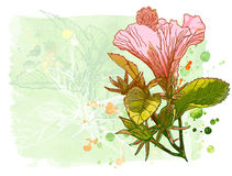 Vector watercolor flower Stock Image
