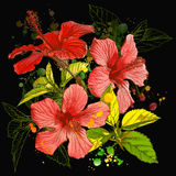 Vector watercolor flower Royalty Free Stock Image