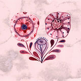 Vector Watercolor Flowers Royalty Free Stock Image