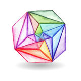 Vector  Watercolor Geometric Design Element Stock Images