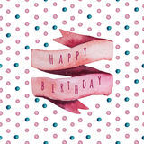 Vector watercolor Happy birthday set. Eps 10 Royalty Free Stock Photo
