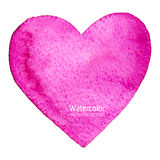 Vector watercolor heart, splash background on wet paper. Stock Photography