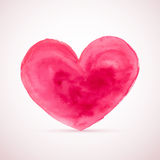 Vector watercolor heart for Valentine's day designs Royalty Free Stock Image