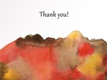 Thank-shape-red-brown abstract texture Royalty Free Stock Photo