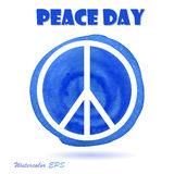 Vector Watercolor Illustration for Peace Day Stock Photography
