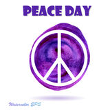Vector Watercolor Illustration for Peace Day Stock Photo