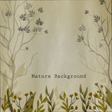 Vector watercolor natural background with leaves Royalty Free Stock Image