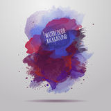 Vector watercolor paint abstract background Royalty Free Stock Photo