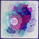 Vector watercolor paint abstract floral design Royalty Free Stock Images