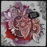 Vector watercolor paint abstract floral design Royalty Free Stock Photography