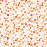 Vector watercolor pattern, floral texture with hand drawn flowers and plants. Floral ornament. Original floral background Stock Photography