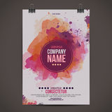 Vector watercolor poster Stock Photos