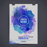 Vector watercolor poster Stock Photography