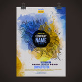 Vector watercolor poster Royalty Free Stock Images