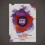 Vector watercolor poster Royalty Free Stock Image