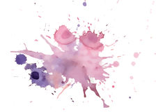Vector watercolor purple and pink spots Stock Image