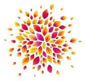 Vector watercolor red autumn leaves background Royalty Free Stock Images