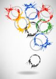 Vector Watercolor Rings - abstract background Royalty Free Stock Images