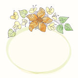 Vector watercolor round flower frame. Hand draw floral border. Vector watercolor round flower frame. Hand draw romantic floral border Royalty Free Stock Photos