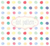 Vector Watercolor seamless dot pattern. Stock Photography
